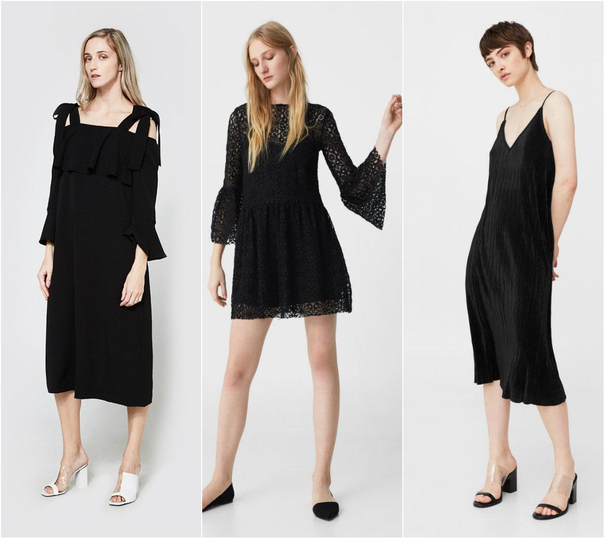 Монохроматски црни фустани што ќе ги носиме во различни прилики