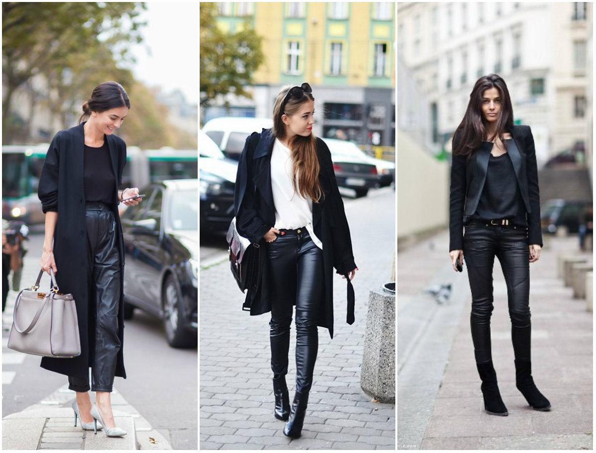 Како ги комбинираме кожените панталони оваа сезона