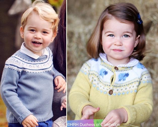 Принцот Џорџ и принцезата Шарлот како модни близнаци