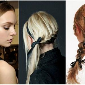 Летни фризури со тенка сатенска лента | Fashionel