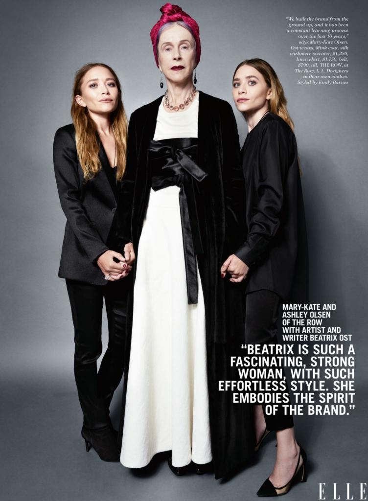 Сестрите Олсен со писателката Беатрикс Ост -Беатрикс е фасцинантна, силна жена, со стил кој веднаш се препознава. Таа го отелотворува духот на брендот. Ние градиме бренд, а тоа е значи постојано да учите. Така е во последните 10 години, така ќе биде и во иднина.