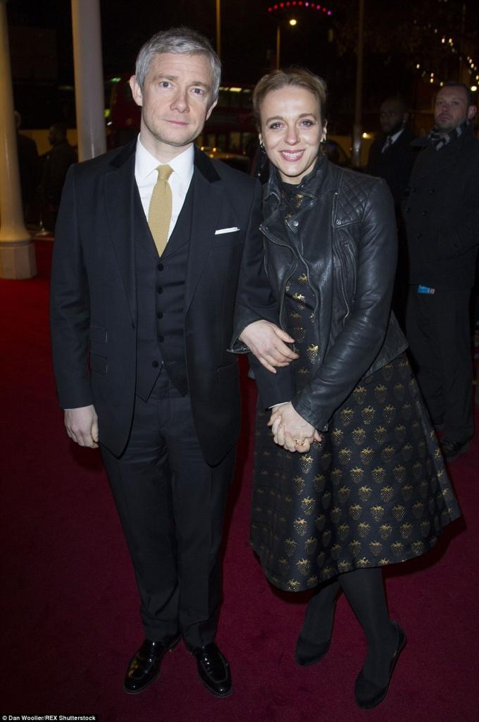 Мартин Фриман со сопругата Аманда