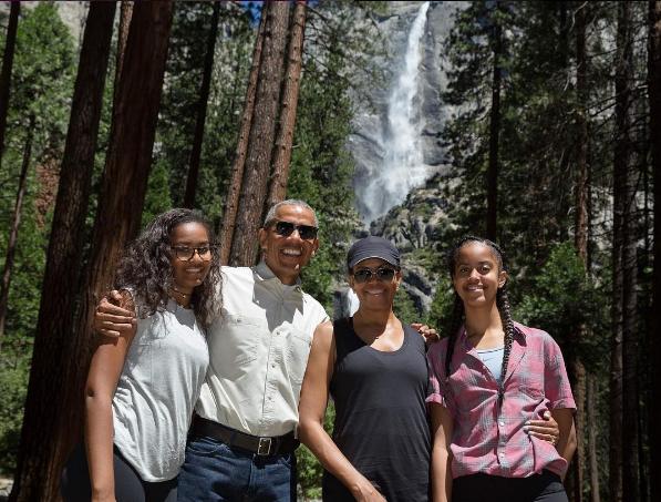 Семејството Обама, парк Јосемити