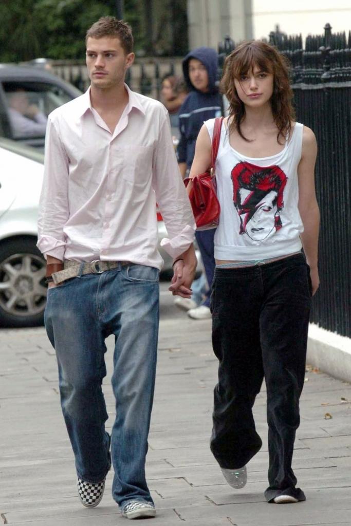 2004 јули - со Кира Најтли во Лондон