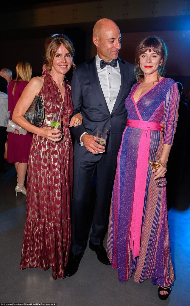 Liza Marshall, Ana Firel and Mark Strong