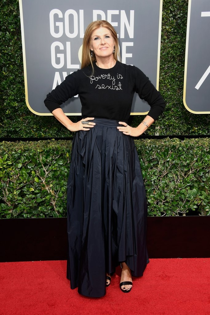 "Connie Britton - Lingua Franca ""Poverty Is Sexist""+Max Mara skirt"