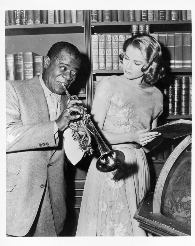 1956 - Грејс Кели со Луис Армстронг