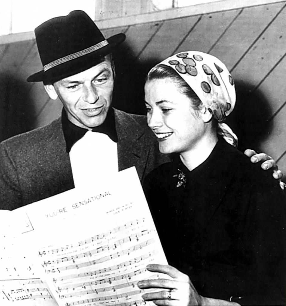 1956 - Грејс Кели со Френк Синатра
