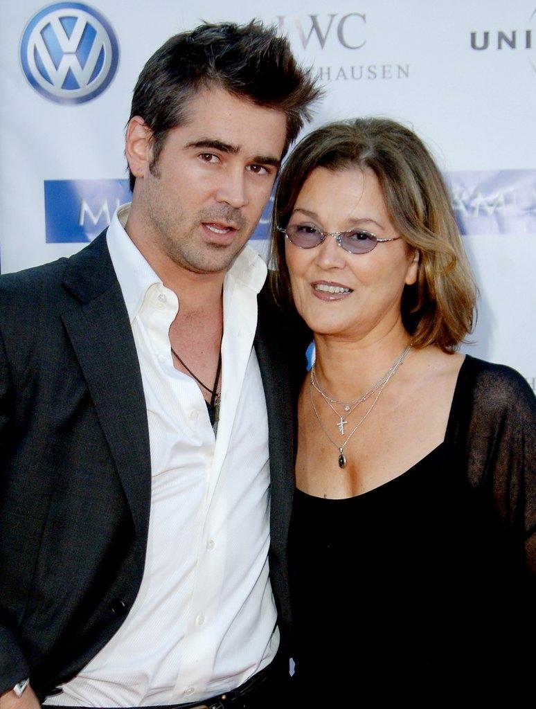 Колин Фарел со мајката Рита