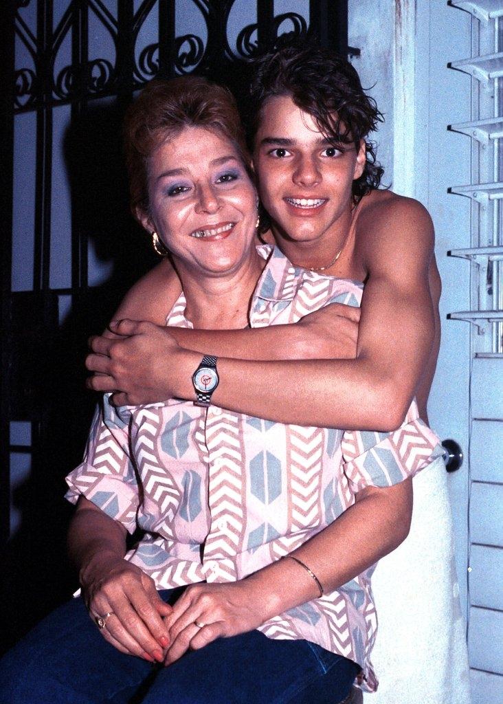 Рики Мартин со мајката Нереида