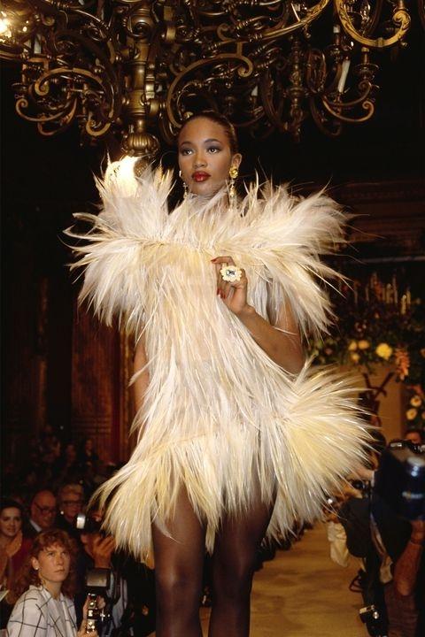 Наоми Кембел - Yves Saint Laurent fall 1987