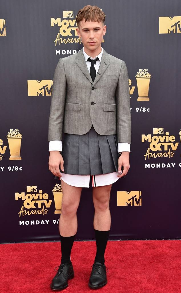 Tommy Dorfman in Thom Browne