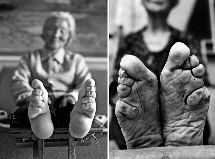 Вековна традиција во Кина, кога убавината се мерела и по малите стапала