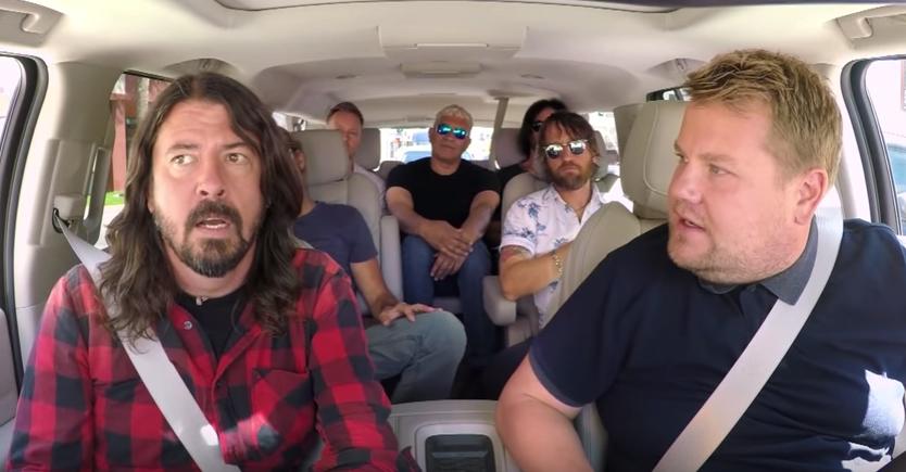 Енергично караоке на  Foo Fighters  кај Џејмс Корден