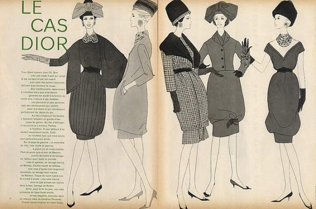 Christian Dior 1959 Fashion Illustration