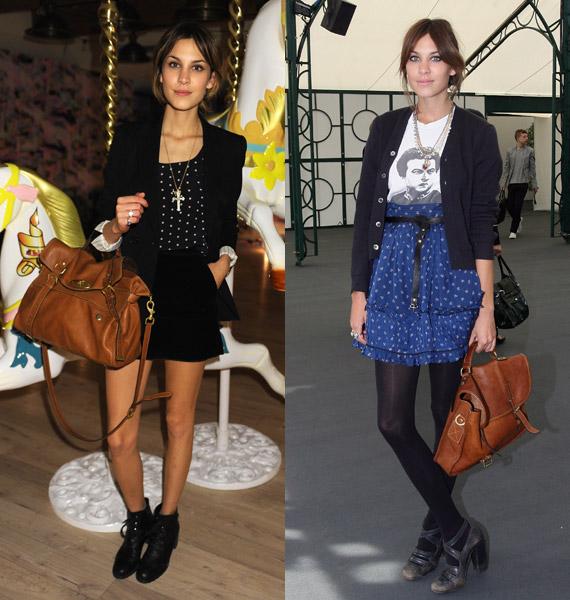 Алекса Чанг и моделот чанта што го носи нејзиното име
