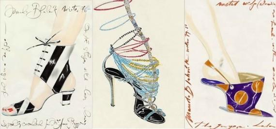 Дизајн на Бланик за Ана Пјаџи, Дизајн за првата Диор couture ревија на Џон Галијано 1997 год., Првата потпетица на Бланик без пета (крај на 70-тите)
