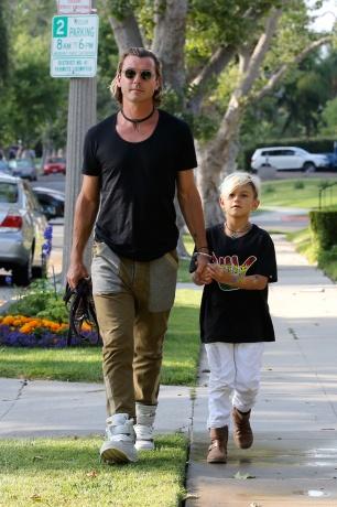 Гавин Росдејл со синот Кингстон, Лос Анџелес 8-ми јуни