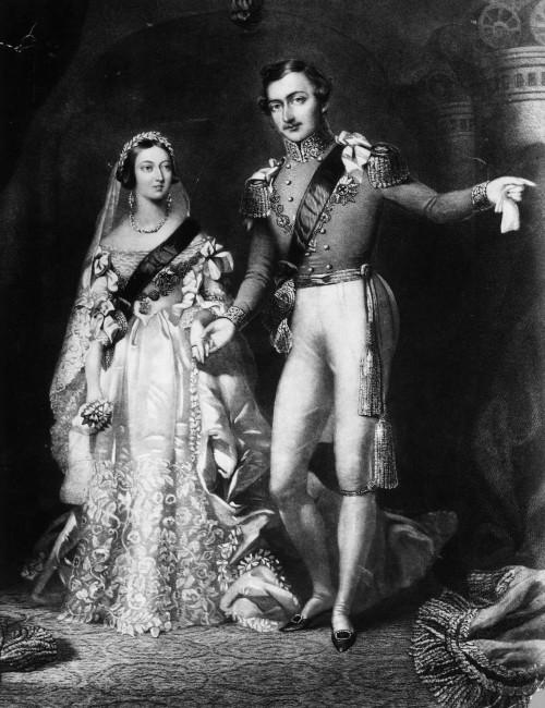 Кралицата Викторија и принцот Алберт во 1840 год во Лондон
