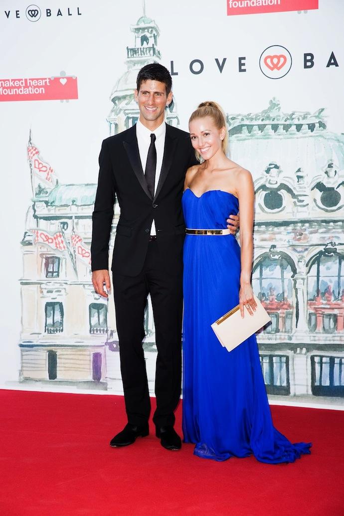Новак Ѓоковиќ со девојката Јелена Ристиќ