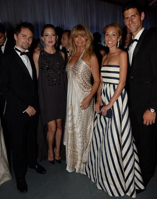 Новак и Јелена во друштво на МатБелами, Кејт Хадсон и Голди Хоун