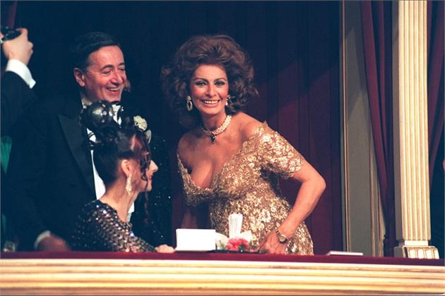 Софија Лорен во операта во Виена 1995 година