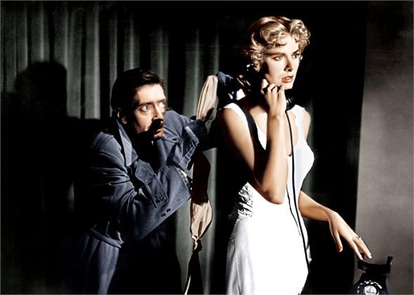 """Грејс Кели во """"Совршен злочин"""", од 1954 година со Ентони Досон"""