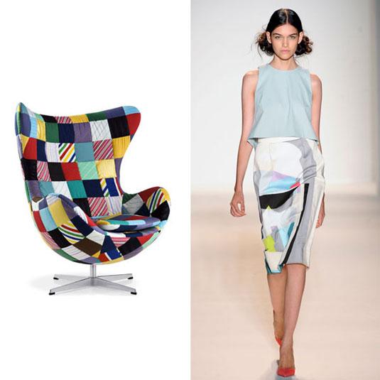 Данскиот дизајнер на мебел Арне Јакобсен и неговата позната фотелја-јајце, беше предизвик за лела Роуз