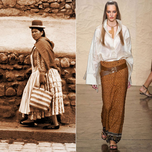Традиционалната облека на Индијанците се препознаваше во креациите на Дона Каран
