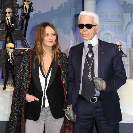 Ванеса Парадис  со Карл Лагерфелд