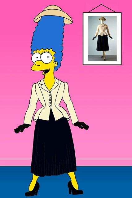 """Во костим на Кристијан Диор од колекцијата """"New Look"""" од 1947 година"""