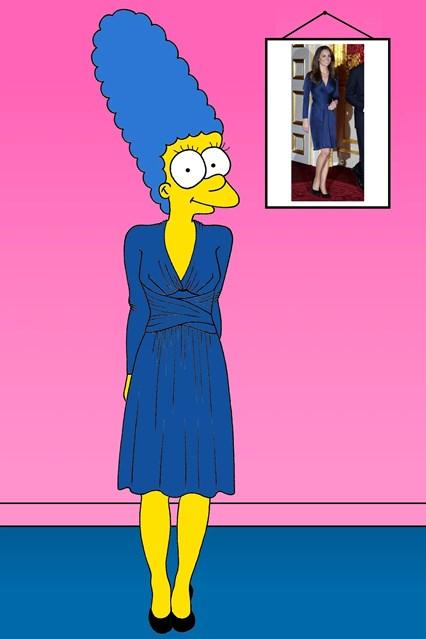 Марџ изгледа скромно во фустанот на Иса, наменет за Војвотката од Кембриџ - Кејт Мидлтон за свршувачката