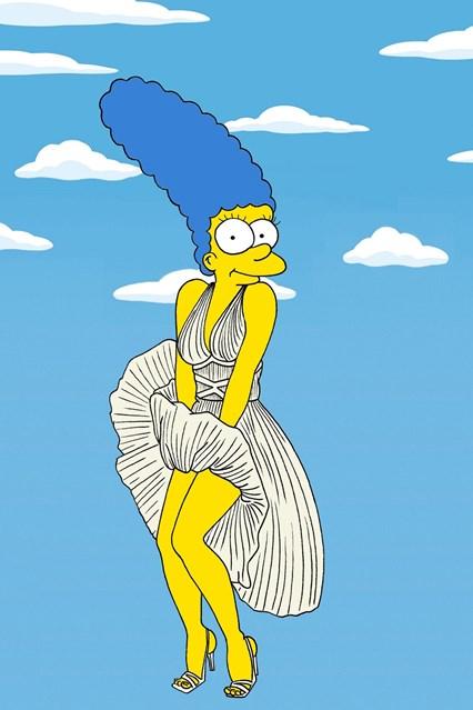 """Марџ како филмска ѕвезда во белиот фустан што го носеше Мерилин Монро во филмот """"Некои тоа го сакаат жешко"""""""