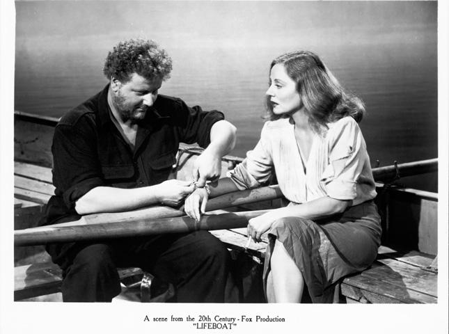 """Валтер Слезак и Талула Бенкхед во """"LIFEBOAT"""", 1944"""