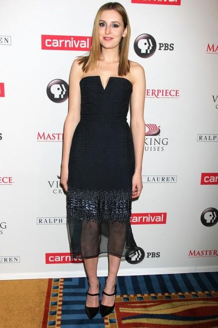 """Актерката од """"Downton Abbey"""" Лаура Карлмајкл во фустан од Ричард Никол"""
