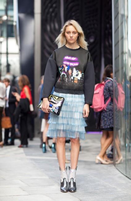 Блузонот на Баленсиага еден од омилените на уличните модни икони