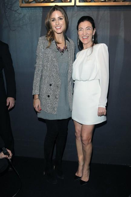 Оливија Палермо и Елизабета Франчи пред почетокот на ревијата на дизајнерката
