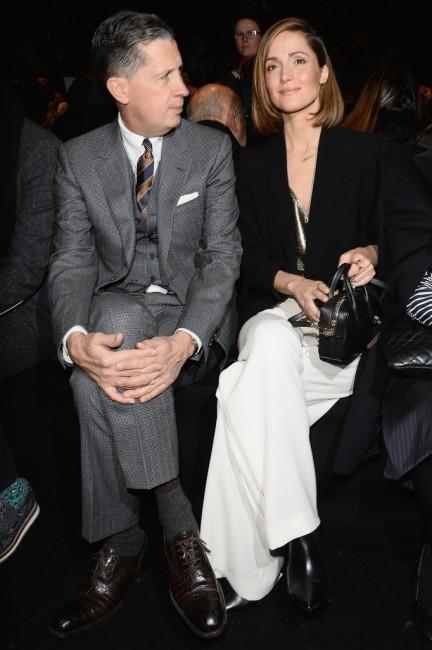 Роуз Брн и уредникот на магазинот W Стефано Тончи