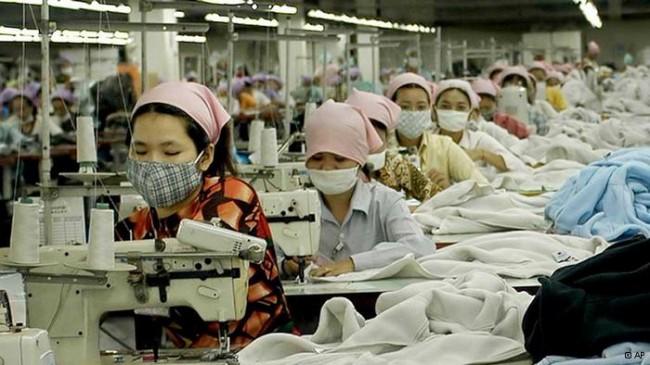 текстилна фабрика во Кина