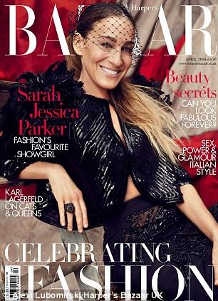 Сара Џесика Паркер а насловната на априлското издание на британски Harper's Bazaar.