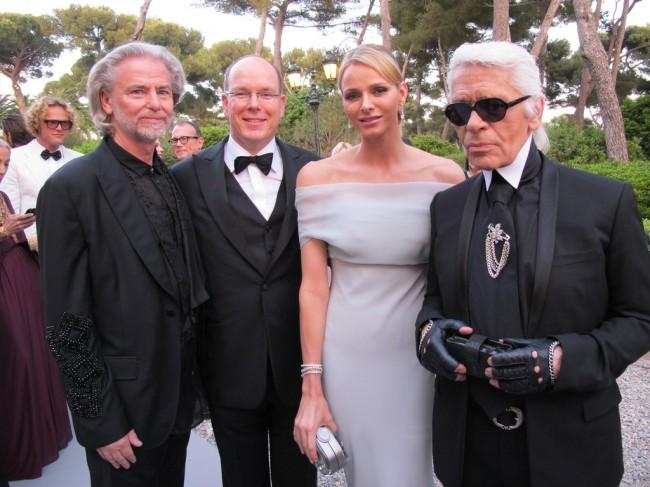 Принцот и принцезата од Монако, Херман Балбекер и Карл Лагерфелд.