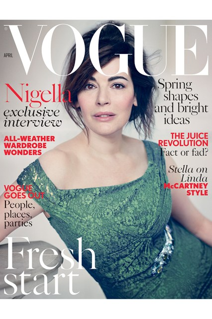 Ниџела Лосон за априлското издание Vogue.