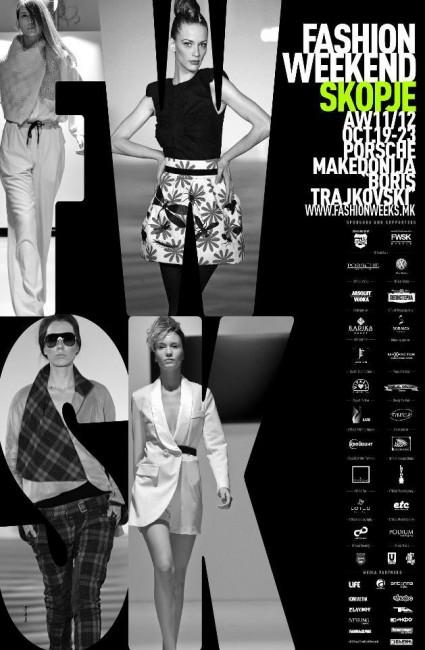 Официјален постер од четвртото издание на Модниот викенд Скопје
