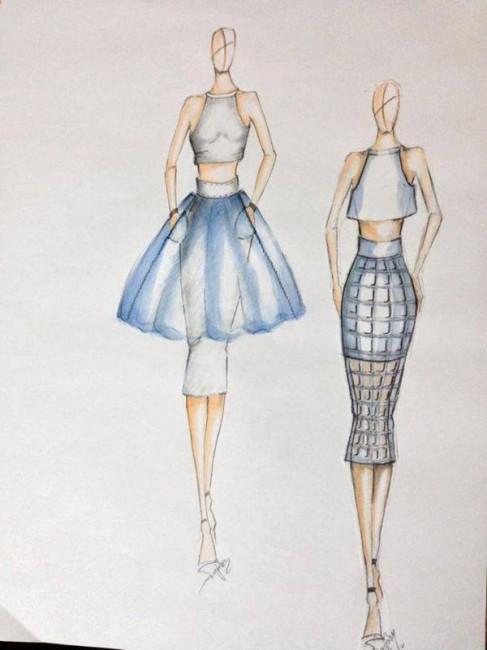 Модна илустрација од новата колекција на Маријана Рујаноска