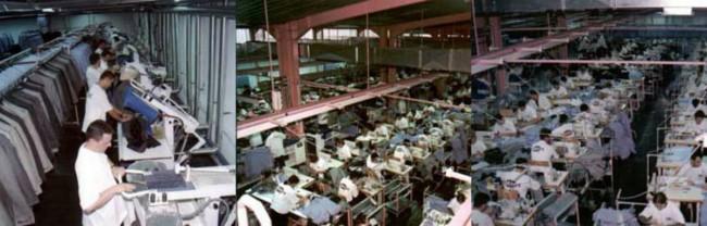 внатрешноста на фабриката за конфекција Астибо