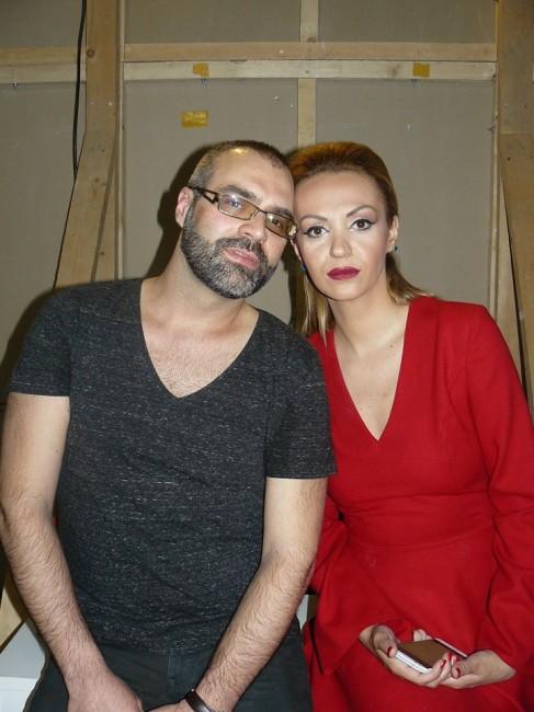 Никола Петровски со манекенката Дунавка Трифуновска