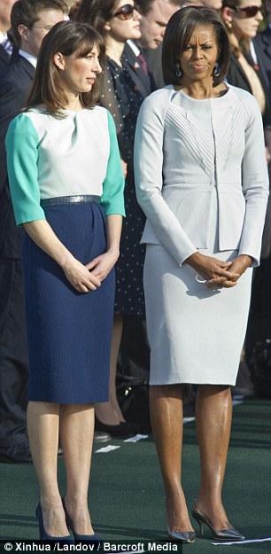 Саманта Камерун и Мишел Обама