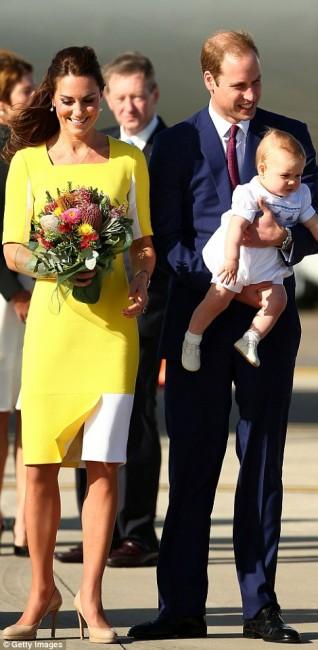 Кејт Мидлтон, принцот Вилијам и малиот Џорџ