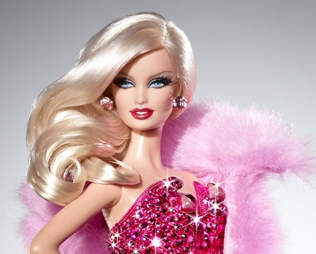 pink diamond barbie head