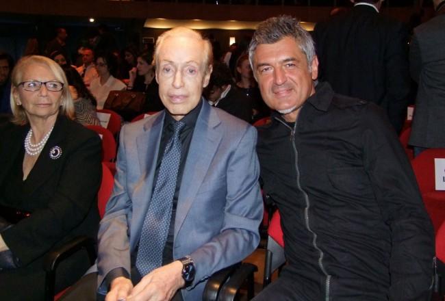 Мики со италијанскиот дизајнер Ренато Балестра